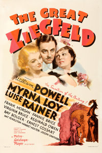 """The Great Ziegfeld (MGM, 1936). Very Fine- on Linen. One Sheet (27.5"""" X 41"""") Style D, Ted """"Vincentini&quo..."""