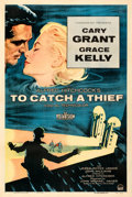 """Movie Posters:Hitchcock, To Catch a Thief (Paramount, 1955). Very Fine- on Linen. One Sheet (27.5"""" X 41"""").. ..."""