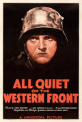 "Movie Posters:Academy Award Winners, All Quiet on the Western Front (Universal, R-1938). Fine/Very Fine on Linen. One Sheet (27.5"" X 41"").. ..."