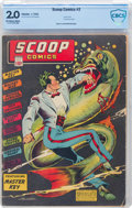 Golden Age (1938-1955):Superhero, Scoop Comics #2 (Chesler, 1942) CBCS GD 2.0 Off-white to white pages....