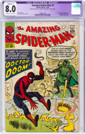 Silver Age (1956-1969):Superhero, The Amazing Spider-Man #5 (Marvel, 1963) CGC Apparent VF 8.0 Slight (C-1) Off-white to white pages....