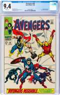 Silver Age (1956-1969):Superhero, The Avengers #58 (Marvel, 1968) CGC NM 9.4 White pages....