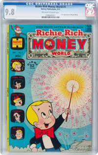 Richie Rich Money World #1 (Harvey, 1972) CGC NM/MT 9.8 Off-white to white pages