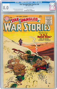 Star Spangled War Stories #36 (DC, 1955) CGC VF 8.0 Off-white to white pages