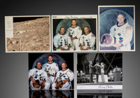 Apollo 11 Lot (5 Pieces) - Signed by Eugene Kranz and Glynn Lunney 8x10 Photo, Signed by Eugene Kranz 8x10 Photo, Signed...