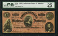 Confederate Notes:1864 Issues, T65 $100 1864 PF-1 Cr. 490 PMG Very Fine 25.. ...