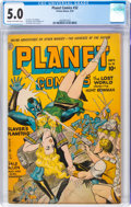 Golden Age (1938-1955):Science Fiction, Planet Comics #32 (Fiction House, 1944) CGC VG/FN 5.0 Cream to off-white pages....