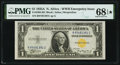 Small Size:World War II Emergency Notes, Fr. 2306 $1 1935A North Africa Silver Certificate. PMG Superb Gem Unc 68 EPQ*.. ...