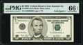 Small Size:Federal Reserve Notes, Low Serial Number DJ00000001A Fr. 1990-J $5 2003 Federal Reserve Note. PMG Gem Uncirculated 66 EPQ.. ...