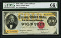 Large Size:Gold Certificates, Fr. 1214 $100 1882 Gold Certificate PMG Gem Uncirculated 66 EPQ.. ...