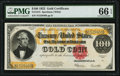 Large Size:Gold Certificates, Fr. 1215 $100 1922 Gold Certificate PMG Gem Uncirculated 66 EPQ.. ...