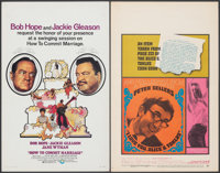 How to Commit Marriage & Other Lot (Cinerama Releasing, 1969). Folded & Unfolded, Fine/Very Fine. Window Cards (...