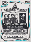 """Movie Posters:Rock and Roll, Barenaked Ladies at the Whistler Summit & Other Lot (S.L. Feldman & Associates, 1996). Very Fine-. Concert Poster (16"""" X 22""""... (Total: 2 Items)"""