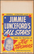 """Movie Posters:Musical, Jimmie Lunceford's All Stars (Universal Attractions, 1940s). Fine/Very Fine. Window Card (14"""" X 22""""). Musical.. ..."""