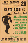 """Movie Posters:Musical, Marty Robbins at the Regina Exhibition Auditorium & Other Lot (Columbia Records, 1960). Fine. Concert Window Cards (2) (14"""" ... (Total: 2 Items)"""
