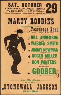 Marty Robbins at the Regina Exhibition Auditorium & Other Lot (Columbia Records, 1960). Fine. Concert Window Cards (...