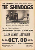 """Movie Posters:Rock and Roll, The Shindogs at the Salem Armory Auditorium (E.J.D. Enterprises, 1965). Fine/Very Fine. Concert Window Card (1.75"""" X 19.75"""")..."""