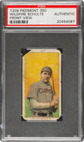 Baseball Cards:Singles (Pre-1930), 1909-11 T206 Piedmont 350 Wildfire Schulte (Front View) PSA Authentic - The Only Confirmed Example For Brand/Series! ...