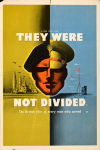 """They Were Not Divided (General Film Distributors, 1950). Folded, Very Fine-. British Double Crown (20"""" X 30"""")..."""