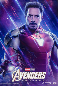 "Avengers: Endgame (Walt Disney Studios, 2019). Rolled, Very Fine+. Bus Shelter (48"" X 72"") SS Advance, Iron Ma..."