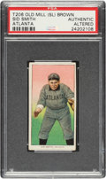 Baseball Cards:Singles (Pre-1930), 1909-11 T206 Old Mill-Brown Syd Smith PSA Authentic - Possibly Unique! ...