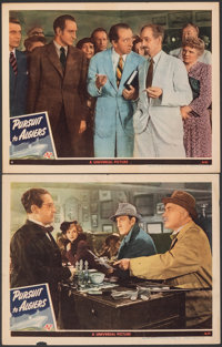 """Pursuit to Algiers (Universal, 1945). Fine/Very Fine. Lobby Cards (2) (11"""" X 14""""). Mystery. ... (Total: 2 Item..."""