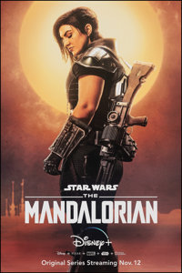 "The Mandalorian (Disney+, 2019). Rolled, Very Fine+. Television Bus Shelter (42"" X 72"") SS Advance, Cara Dune..."