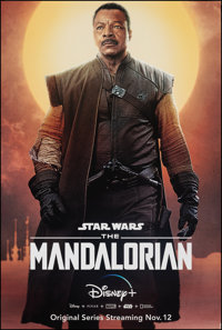 """The Mandalorian (Disney+, 2019). Rolled, Very Fine+. Television Bus Shelter (48"""" X 72"""") SS Advance, Greef Karg..."""