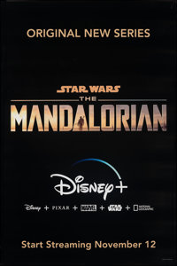 "The Mandalorian (Disney+, 2019). Rolled, Very Fine+. Television Bus Shelter (48"" X 72"") SS Advance, Title Styl..."