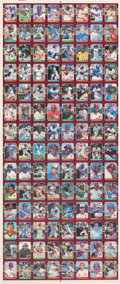 Baseball Cards:Other, 1987 Donruss Opening Day Uncut Sheet With 112 Cards - Barry Bonds Error Card. ...