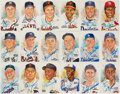 Autographs:Post Cards, Signed 1981-89 Perez-Steele Baseball Hall of Fame Postcards Lot of 56. ...