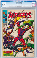 Silver Age (1956-1969):Superhero, The Avengers #55 (Marvel, 1968) CGC VF- 7.5 Cream to off-white pages....
