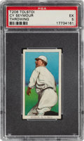 Baseball Cards:Singles (Pre-1930), 1909-11 T206 Tolstoi Cy Seymour (Throwing) PSA EX 5 - Only Five PSA-Graded Examples! ...