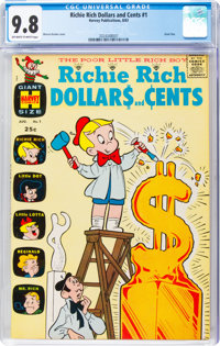 Richie Rich Dollars and Cents #1 (Harvey, 1963) CGC NM/MT 9.8 Off-white to white pages