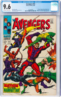 Silver Age (1956-1969):Superhero, The Avengers #55 (Marvel, 1968) CGC NM+ 9.6 Off-white to white pages....