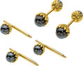 Estate Jewelry:Cufflinks, Hematite, Gold Dress Set, Schlumberger for Tiffany & Co. . ... (Total: 4 Items)