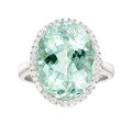 Estate Jewelry:Rings, Paraiba-Type Tourmaline, Diamond, White Gold Ring . ...