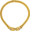 Estate Jewelry:Necklaces, Ruby, Sapphire, Diamond, Gold Necklace, Lalaounis . ...