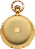 Timepieces:Pocket (pre 1900) , Henry Beguelin & Son, Choice 21 Jewel 18k Gold Hunters Case, circa 1880. ...