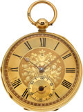 """Timepieces:Pocket (pre 1900) , John Forrest, London, """"Chronometer Maker to the Admiralty"""" 18k Gold Lever Fusee, circa 1881. ..."""