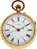 Timepieces:Pocket (pre 1900) , M.J. Russell, London, 18k Gold Center Seconds . ...