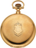 Timepieces:Pocket (post 1900), E. Howard Watch Co. 14k Gold 16 Size Hunters Case, circa 1910. ...