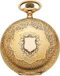 Timepieces:Pocket (post 1900), Illinois 14k Gold 16 Size Hunters Case Watch, circa 1903. ...