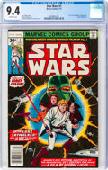 Bronze Age (1970-1979):Superhero, Star Wars #1 (Marvel, 1977) CGC NM 9.4 Off-white pages....