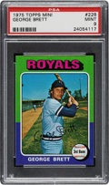 Baseball Cards:Singles (1970-Now), 1975 Topps Mini George Brett #228 PSA Mint 9. ...
