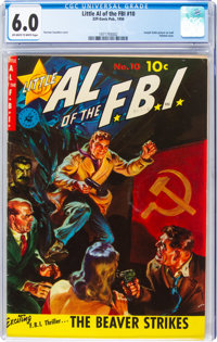 Little Al of the F.B.I. #10 (Ziff-Davis, 1950) CGC FN 6.0 Off-white to white pages