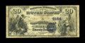 National Bank Notes:West Virginia, Wheeling, WV - $20 1882 Date Back Fr. 555 The National ExchangeBank Ch. # (S)5164. The edges are nice for the grade on ...