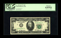 Error Notes:Major Errors, Fr. 2072-B $20 1977 Federal Reserve Note. PCGS Choice New 63PPQ..This is a fantastic double printing $20. The doubling is p...