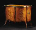 Furniture: English, An Important English George III Cabinet. Attributed to William Vile and John Cobb, London, England. Circa 1760-1770. Satin...