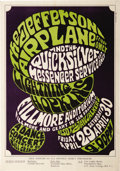 Music Memorabilia:Posters, Jefferson Airplane Fillmore Auditorium Concert Poster, BG-4 (BillGraham, 1966). This early Bill Graham poster features some...